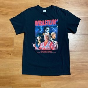 Vtg WWF WCW Wrestling Shirt Flair Sting Undertaker
